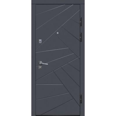 Двери металлические Riccardi (URBAN 1-А) графит матовый/дуб ash line BG