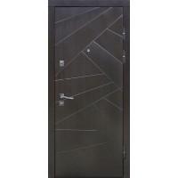 Двери металлические Riccardi (URBAN 1-В) дуб wenge/дуб bianco line MS