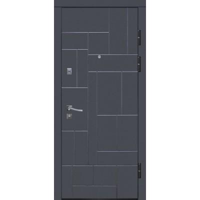 Двери металлические Riccardi (URBAN 2-А) графит матовый/дуб bianco line MS