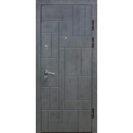 Двери металлические Riccardi (URBAN 2-В) бетон темный/дуб latte line MS