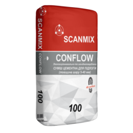 Легковыравнивающаяся смесь для пола Scanmix CONFLOW 100, 25 кг