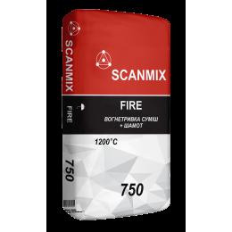 Термостойкая кладочная смесь для каминов и печей Scanmix Fire 25 кг