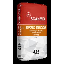 """Штукатурка декоративная Scanmix MIKRO Dekor """"короед"""" 2 мм 25 кг"""