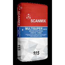 Клей для плитки Scanmix Multisuper белый 25 кг